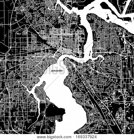 Jacksonville Vector Map