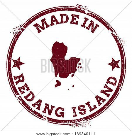 Redang Island Seal. Vintage Island Map Sticker. Grunge Rubber Stamp With Made In Text And Map Outlin