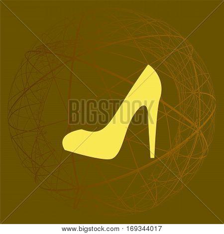 Elegant High Heel Shoe Vector Icon