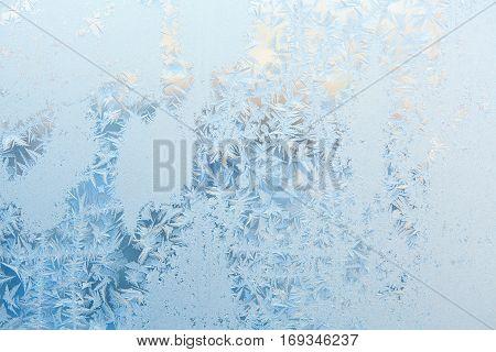 Beautiful Winter Texture Patterns Of Frost On Window