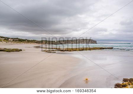 Pennington Bay In Stormy Weather Landscape. Kangaroo Island, South Australia.