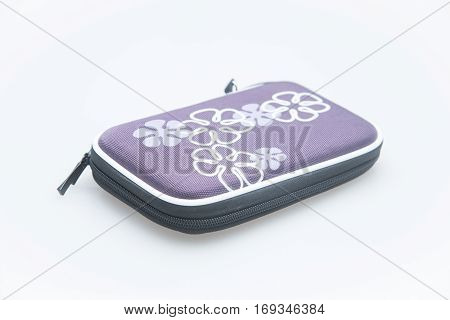 external HDD hard disk case isolated on white background