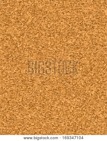 Cork board vector texture background. Realistic illustration ofvertical brown corkboard for reminder and notice pins