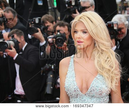 Victoria Silvstedt attends the 'Slack Bay (Ma Loute)' premiere during the 69th annual Cannes Film Festival at the Palais des Festivals on May 13, 2016 in Cannes, France.
