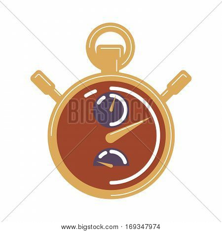 Isolated stop watch on white background. Concept of speed, deadline and accuracy.