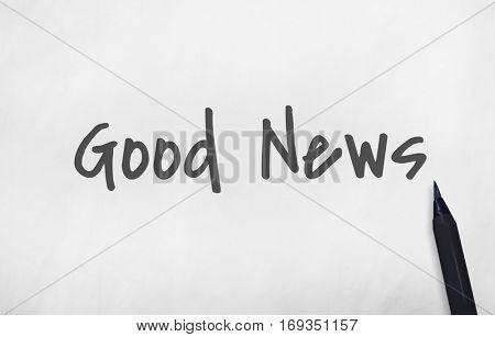 Breaking News Information Announcement Publication Concept