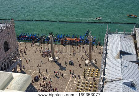 Aerial View Of San Marco Square From Campanile, Venice, Italy