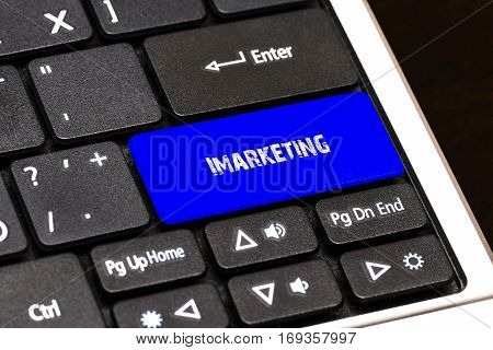 Business Concept - Blue Imarketing Button On Slim