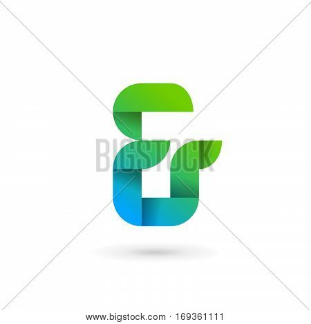 Symbol & And Ampersand Ribbon Logo Icon Design Template Elements