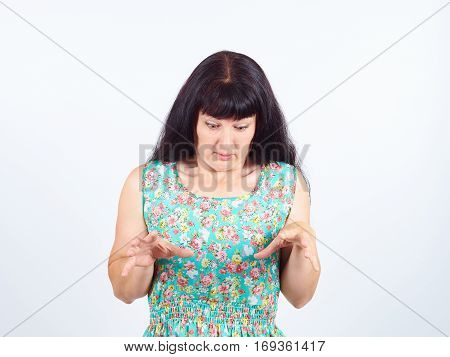 Young Woman Very Scared.