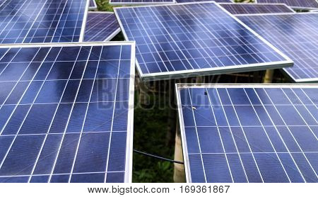 Solar Panels technology at daytime for a better future