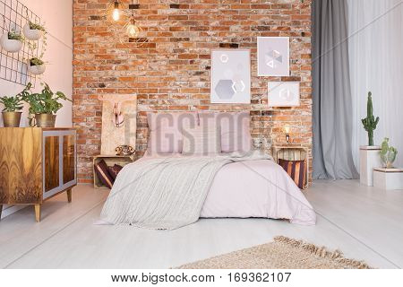 Cozy Bedroom With Double Bed