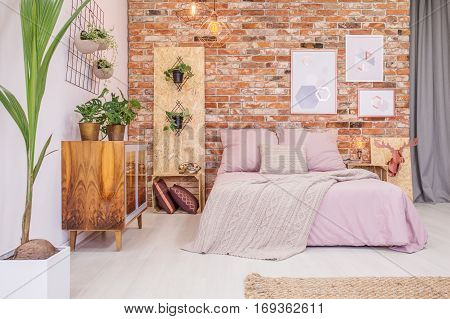 Bedroom With Green Decorative Plants