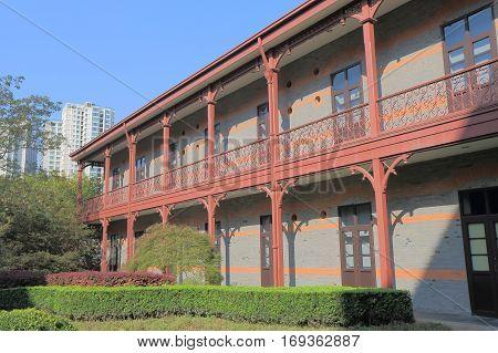 SHANGHAI CHINA - NOVEMBER 2, 2016: C Y Tung Maritime Museum. C Y Tung Maritime Museum houses the Chinese Maritime History Gallery and the C. Y. Tung Gallery.