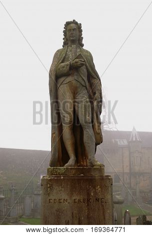 Statue of Ebenezer Erskine, Scottish minister, in Stirling
