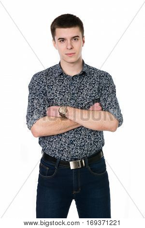 Portrait Of A Thoughtful Young Man In Shirt