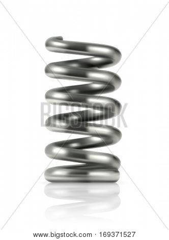 Elastic metal spring, icon. Raster copy