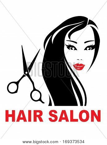 Hair Salon Sign With Woman Face