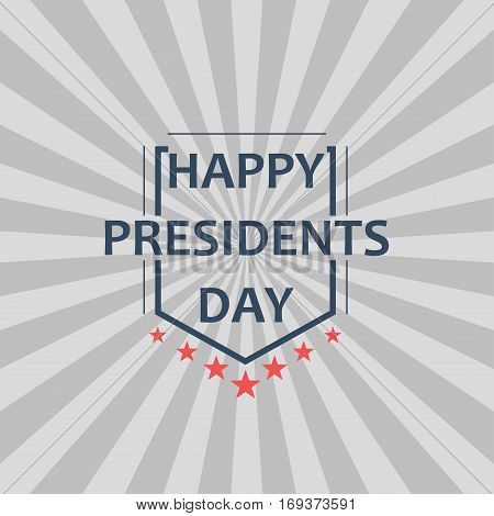 Happy Presidents Day background. Design for greeting card, poster and banner. Vector Illustration.