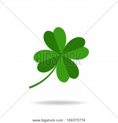 Four leaves clover, St. Patrick's day icon. Vector illustration