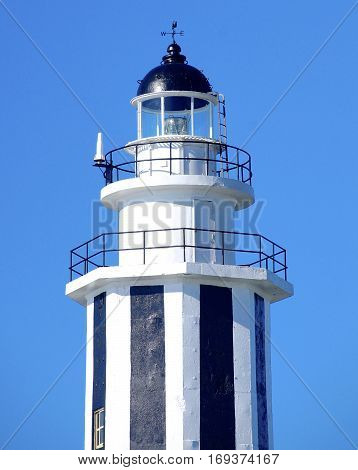 The close view of lighthouse in Taiwan