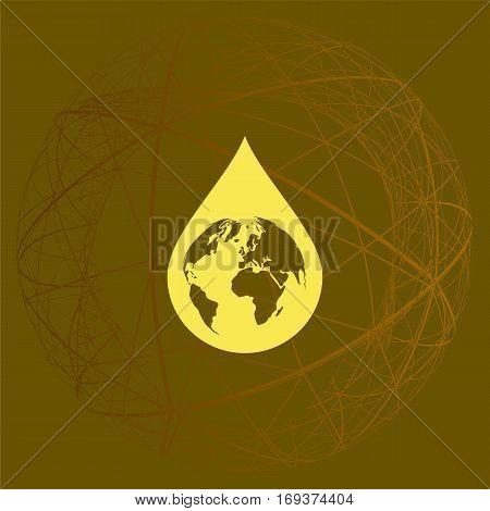 Earth In Water-drop