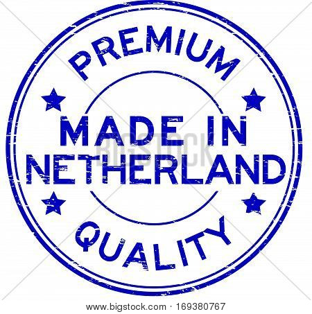 Grunge blue premium quality and made in Netherland rubber stamp