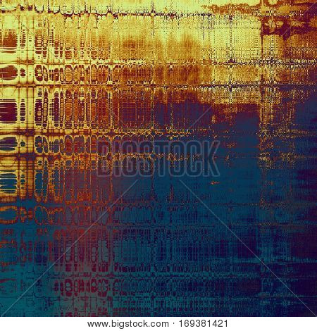 Old, grunge background or damaged texture in retro style. With different color patterns: yellow (beige); brown; blue; red (orange); purple (violet); pink
