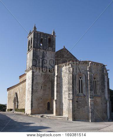 medieval church in praia da areia branca, portugal