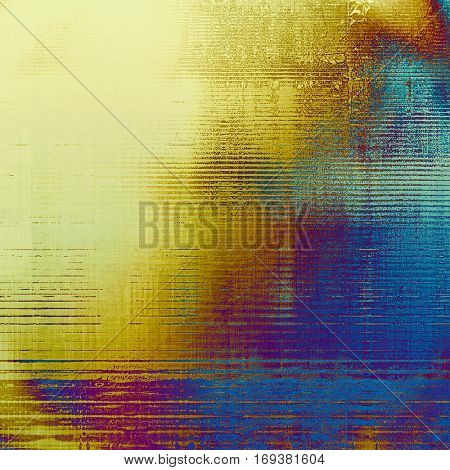 Vintage decorative texture with grunge design elements and different color patterns: yellow (beige); brown; blue; red (orange); purple (violet); pink