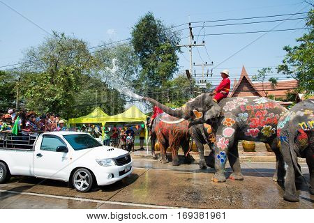 Songkran Festival In Ayuttaya