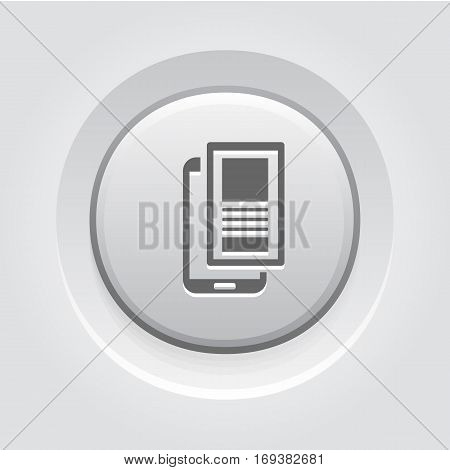 Mobile Landing Page Icon. Business and Finance. Isolated Illustration. Mobile phone with web page. Smartphone with landing page.