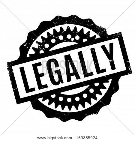 Legally rubber stamp. Grunge design with dust scratches. Effects can be easily removed for a clean, crisp look. Color is easily changed.