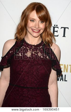LOS ANGELES - JAN 4:  Bryce Dallas Howard at the 2nd Annual Moet Moment Film Festival at Doheny Room on January 4, 2017 in West Hollywood, CA