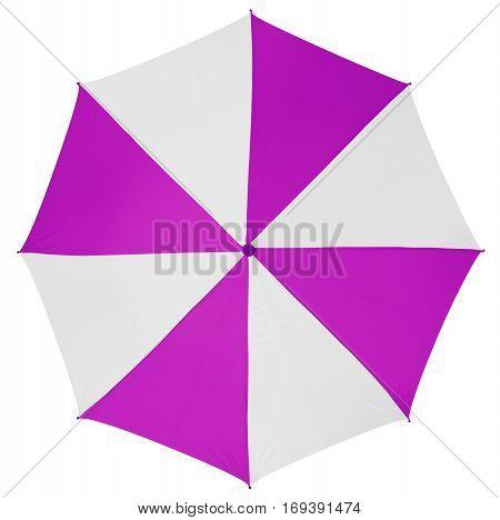 Umbrella Isolated- Purple-white