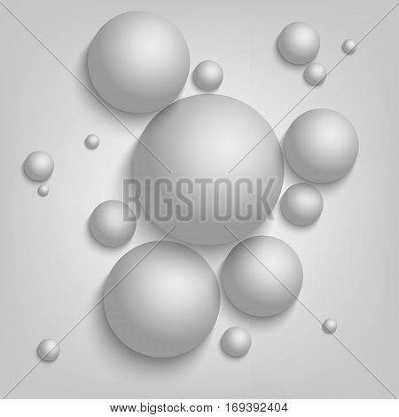 Abstract background with gray balls template vector eps 10