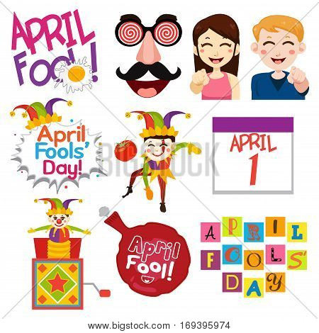 A vector illustration of April Fools Day