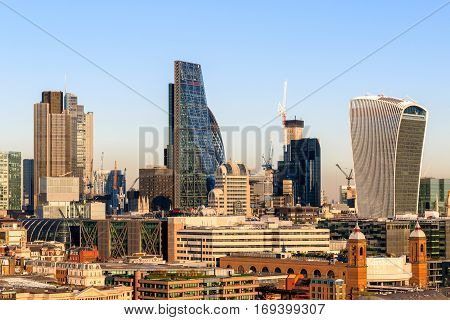 Financial District Cityscape Of London