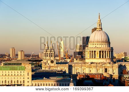Sunset At St Paul's Cathedral
