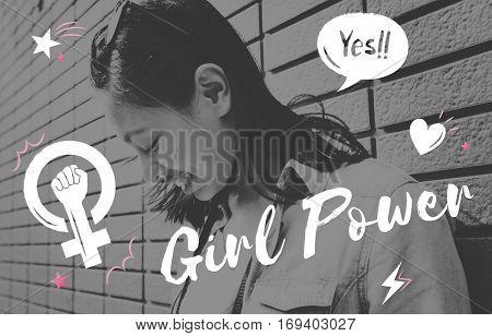 Girl Power Equality Feminist Women's Right Concept