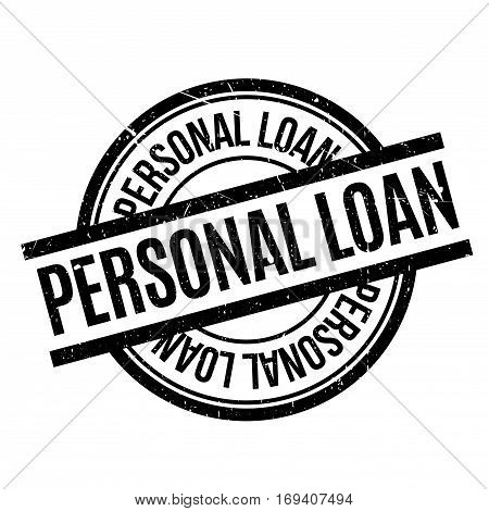 Personal Loan rubber stamp. Grunge design with dust scratches. Effects can be easily removed for a clean, crisp look. Color is easily changed.