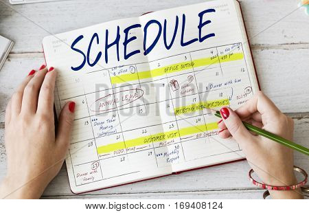 Schedule Activity Calendar Appointment Concept
