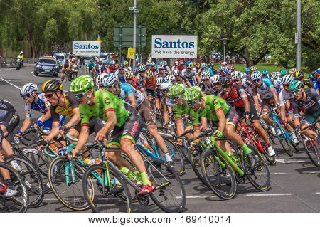 Adelaide South Australia 22 January 2017 The last stage of the Tour Down Under races around the street circuit of central Adelaide