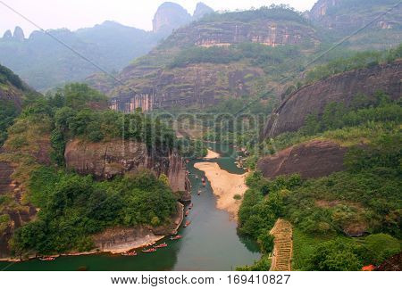 Rafting on the River of Nine Bends Wuyishan China