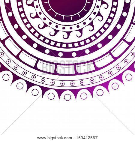 Maori tattoo design with circle shape ethnic canvas