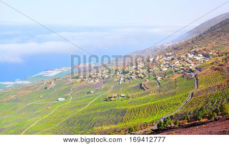 Panoramic view of La Palma island, Canary Islands