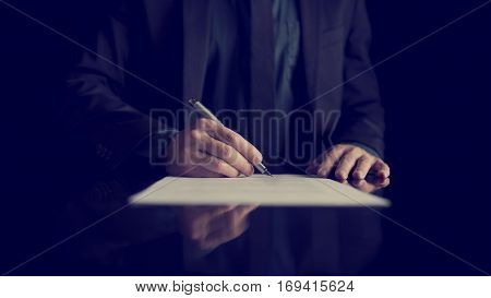 Businessman Signing Document Or Contract