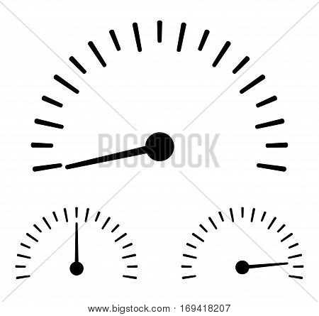 Speedometer icon.On a white background. - Stock Vector.