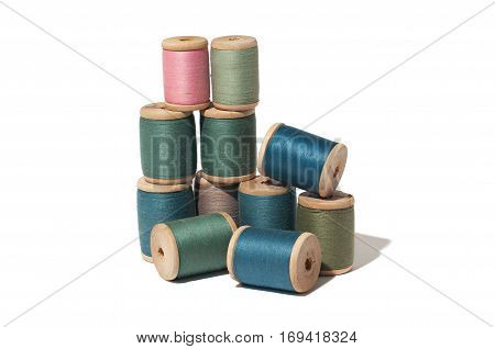 Spool of thread isolated on white background.