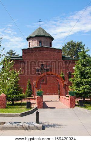 City Of Vsevolozhsk, Leningrad Region, Russia 10 June 2012: Armenian Apostolic Church Of The Blessed